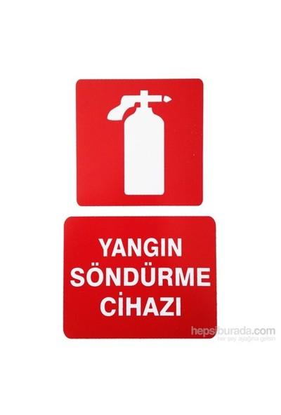 "İzmir Serigrafi Pvc Levha ""Yangın Söndürme Cihazı"""
