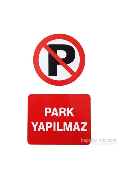 "İzmir Serigrafi Pvc Levha ""Park Yapılmaz"""