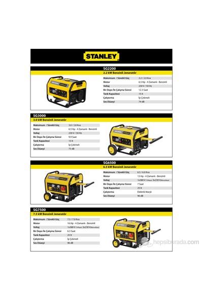 Stanley SG2200 2,2 kVA Monofaze Benzinli Jeneratör (4 Zamanlı)