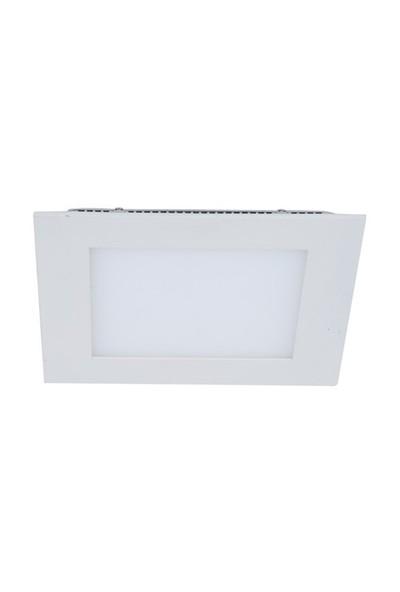 Armatür Lamptıme Panel Led Downlıght İnce Kare 18W 6500K Beyaz 260631 (185-205)