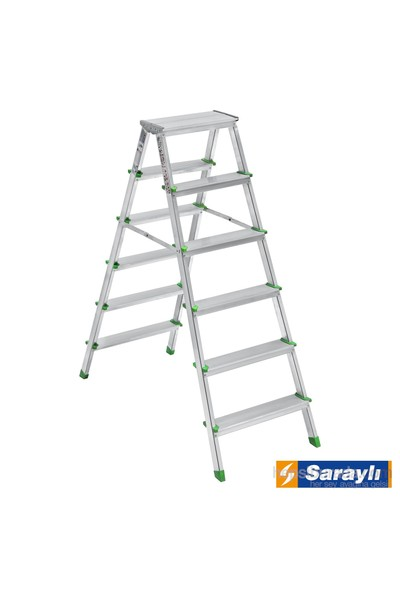 Saraylı Alüminyum Merdiven Çift Taraflı 6+6
