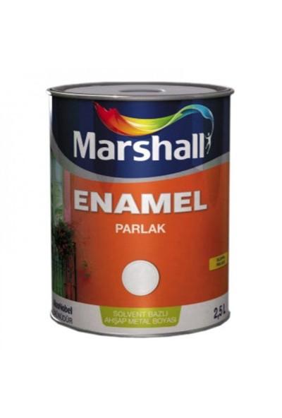 Marshall Enamel Parlak Sentetik Yağlı Boya 0,75 Lt Beyaz