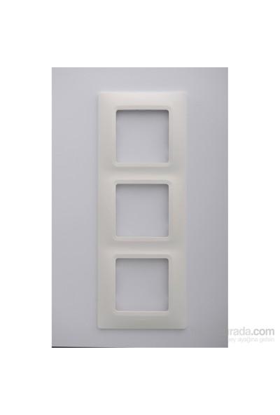 Legrand Salbei 3Lü Çerçeve, Beyaz