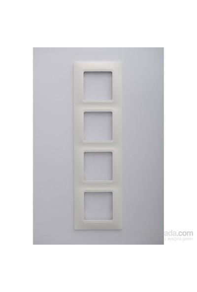 Legrand Salbei 4Lü Çerçeve, Beyaz