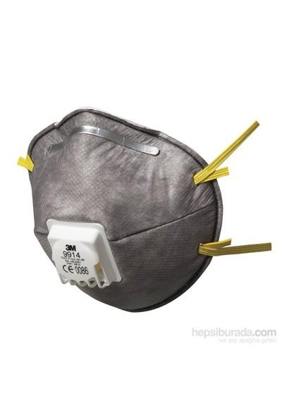 3M 9914 Düşük Seviyede Kokular İçin Ventilli Maske