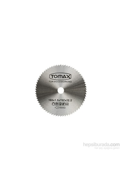Tomax Ağaç Daire Testeresi (Elmassız) 180X1.5