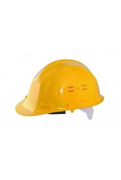 Essafe 1540 Ce'li Hava Delikli Kulaklık Takılabilir Baret Sarı