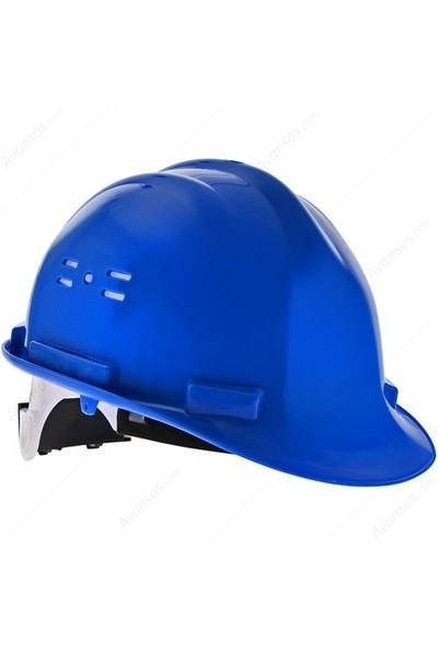 Essafe 1548 Ce'li Enseden Ayar Mekanizmalı Hava Delikli Kulaklık Takılabilir Baret Mavi