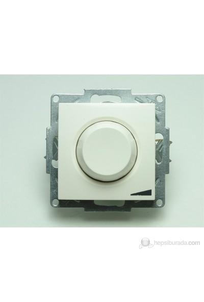 Reosta Zena Beyaz Işıklı 800w Mekanizma Elbi