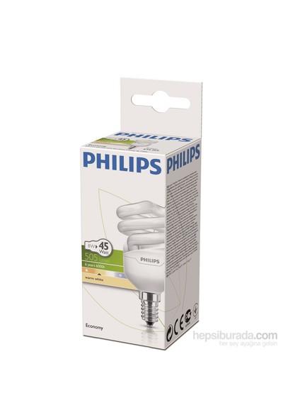 Philips EconomyTwister 8W Sarı Işık E14 İnce Duy
