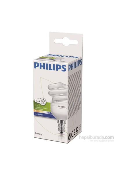 Philips EconomyTwister 8W Beyaz Işık E14 İnce Duy