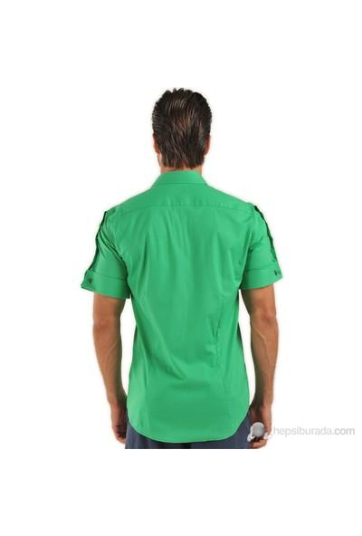 Plusninety 3105 Kısa Kol, Kol Düğmeli Gömlek