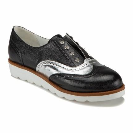 Butigo Bss1675 Z 1993 Siyah Kadın Oxford Ayakkabı
