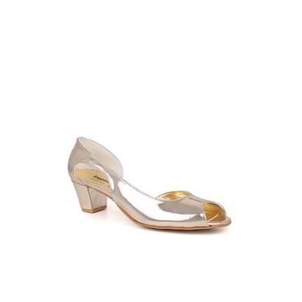 Loggalin 375026 031 712 Kadın Gold Abiye Ayakkabı