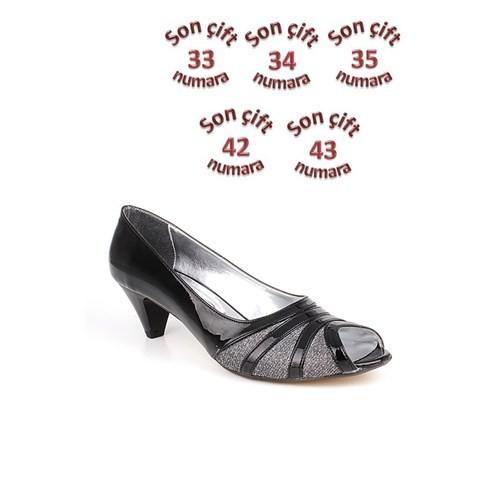 Loggalin 012563 031 073 Siyah Kadın Abiye Ayakkabı
