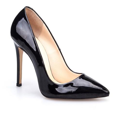 Cabani Stiletto Günlük Kadın Ayakkabı Siyah Rugan