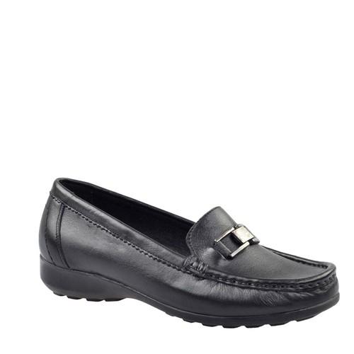 Cabani Comfort Günlük Kadın Ayakkabı Siyah Deri