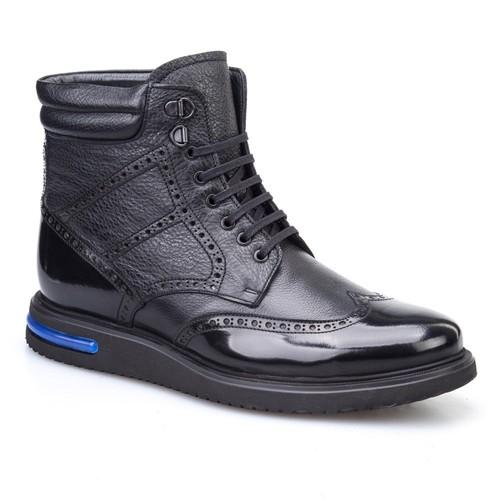 Cabani Oxford Günlük Erkek Ayakkabı Siyah Antik Deri