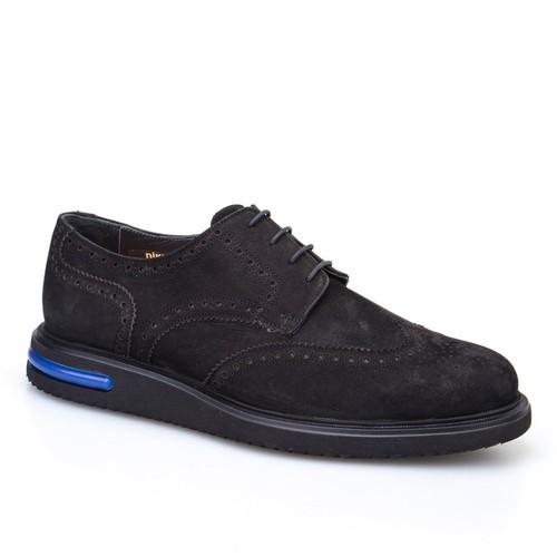 Cabani Oxford Günlük Erkek Ayakkabı Siyah Nubuk