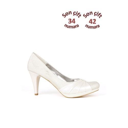 Loggalin 520633 031 773 Kadın Beyaz Abiye Ayakkabı
