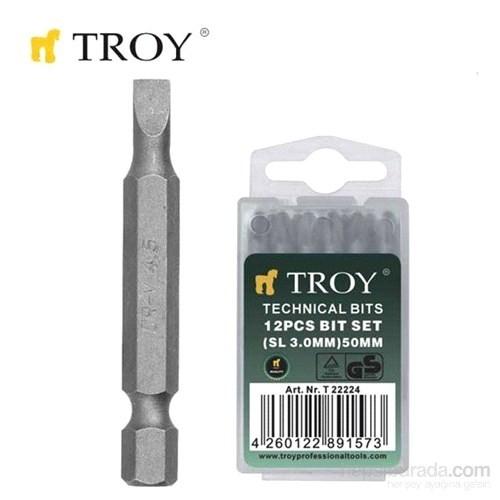 Troy 22226 Bits Uç (Düz 4,5X50mm)