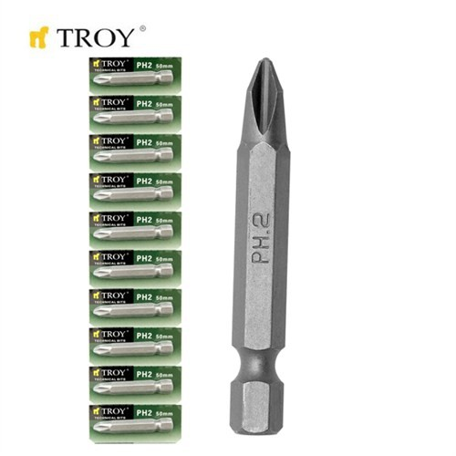 Troy 22256-10 Bits Uç (10Xph2x50mm)