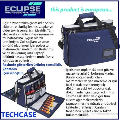 Eclipse Profesyonel Tekstil Takım Çantası 44X20x33 Cm