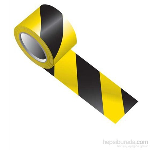 MasterCare Siyah/Sarı Güvenlik Fosfor Bant 10 Cm X 5 Mt 010020