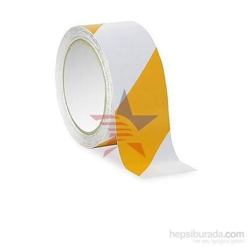 MasterCare Beyaz/Sarı Güvenlik Fosfor Bant 10 Cm X 5 Mt 010024
