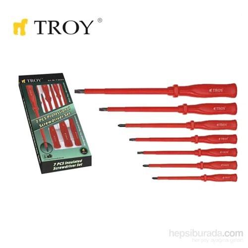 Troy 22305 İzoleli Tornavida Seti (7 Parça)