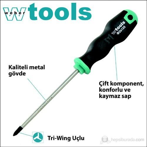Weber Tools Tri-Wing Başlı Tornavida 0 X 80 Mm