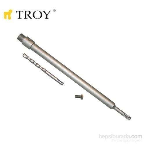 Troy 27458 Sds Plus Adaptör 400Mm Ve Merkezleme Matkap Ucu Seti