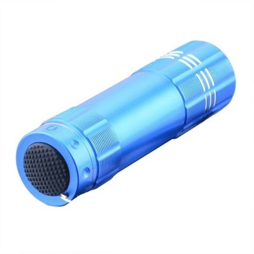 Actto Süper Parlak 9 Ledli Metal Mini El Feneri-Mavi