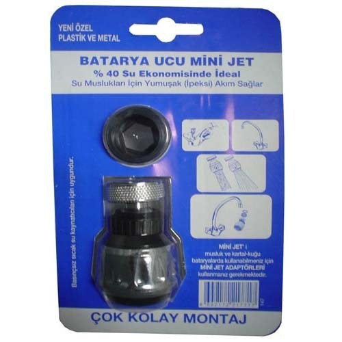 Batarya Ucu Mini Jet Krom