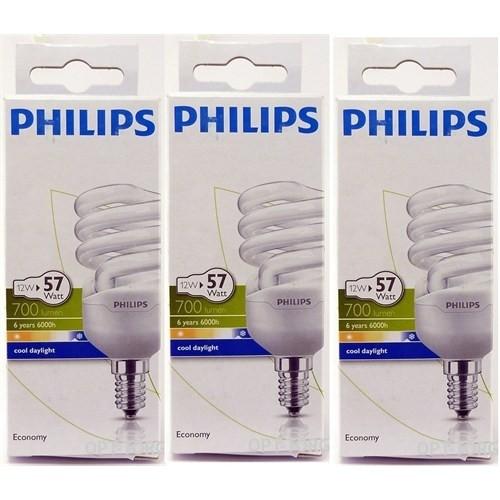 Philips Economy 12W E14 Duy Cool Daylight 3'Lü Paket