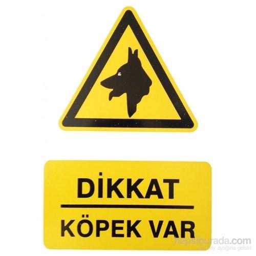 """İzmir Serigrafi Pvc Levha """"Dikkat Köpek Var"""""""