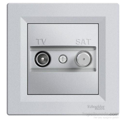 Schneider Electric Asfora Plus Tv-Sat Priz Geçişli F 8 Db Alüminyum