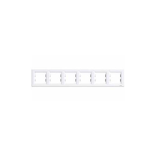 Schneider Electric Asfora 6'Li Yatay Cerceve Beyaz Çerçeveli