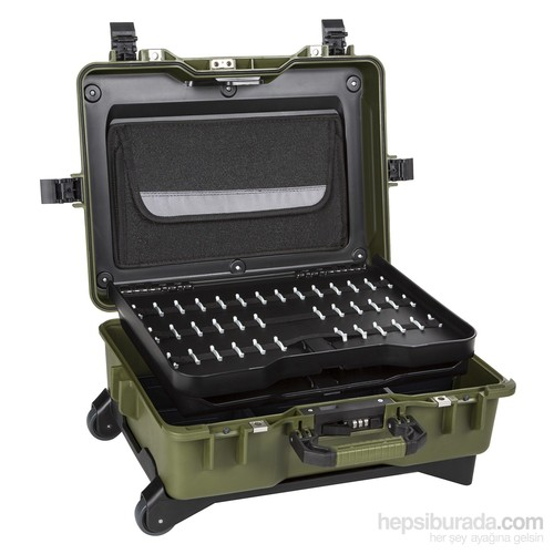 Mano Mtc 430Pp Yeşil - Plastik Takım Dizmeli +Plastik Bölmeli Tough Case Pro Takım Çantası