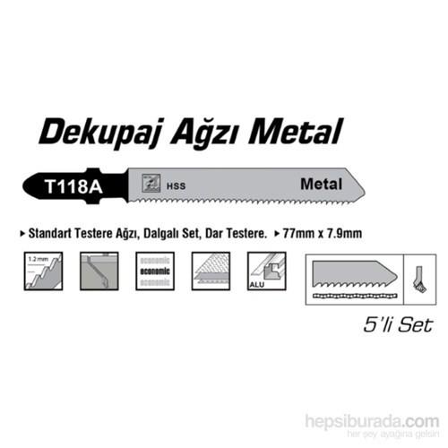 SGS HSS Tip T118A Metal İçin Dekupaj Ağzı Testere 77 mm x 7,9 mm 010155