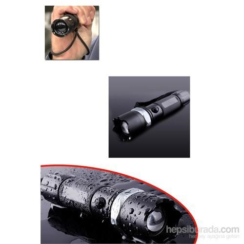 Profesyonel El Feneri (Ledli+Flashlight Zoom Özellikli)