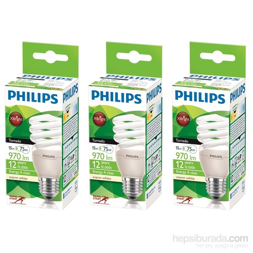Philips Tornado Spiral 15W/827 E27 2BL3