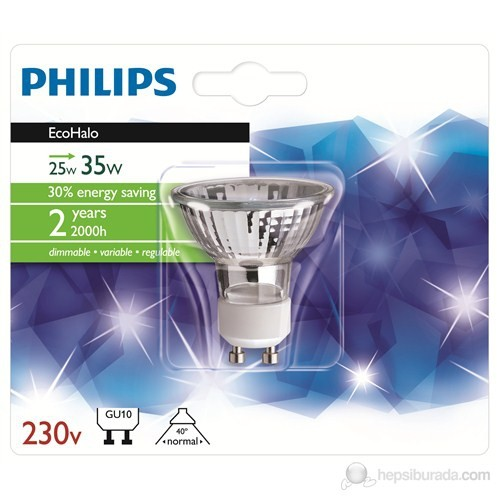 Philips Ecohalo Twist 25W Gu10 50D - Sarı Işık
