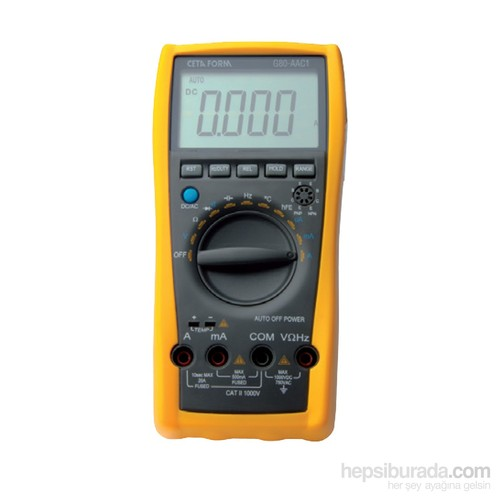 Ceta Form G80-Aac1 Dijital Multimetre (Ac/Dc Akım-Otomatik Sınıflama )