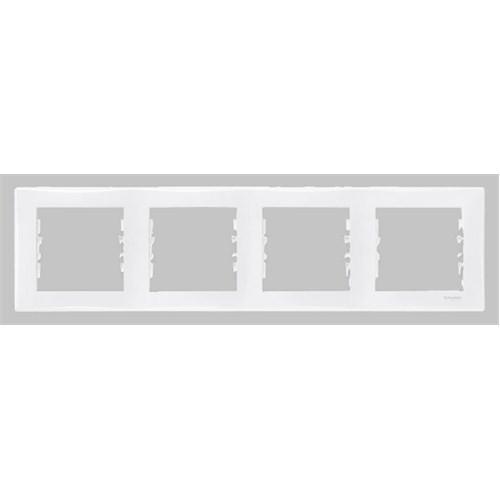 Schneider Electric Sedna Dörtlü Çerçeve Beyaz
