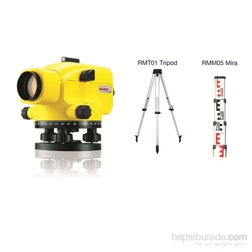 Leica Jogger 32 Optik Nivo SET -RMT01 Tripod + RMM05 Mira-