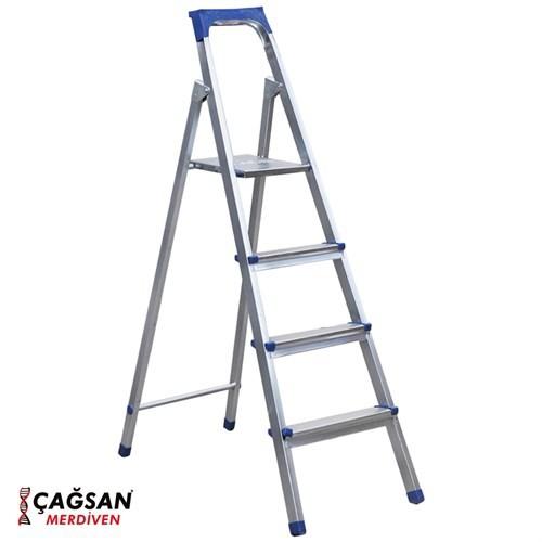 Çağsan 3+1 Basamaklı Galvaniz Kaplamalı Merdiven