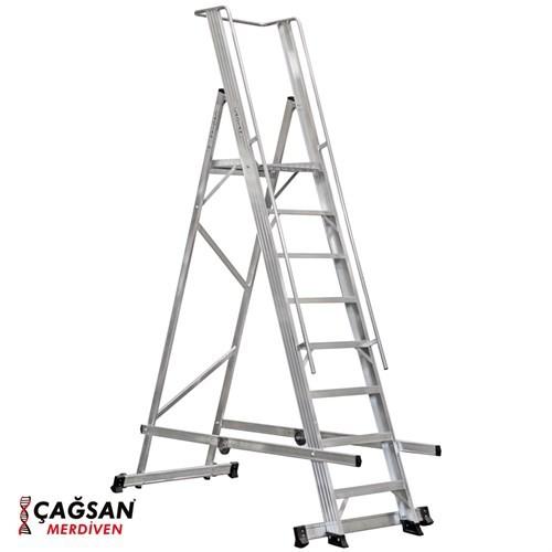 Çağsan 7+1 Basamaklı Katlanır Platformlu Merdiven