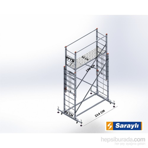 Saraylı İskele Merdiven 2X2.5 Metre