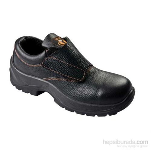 Tuğbasan-Siyah-Kapaklı Koruyucu Ayakkabı-Çelik Burunlu-39 numara